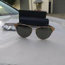 Chopard Polarisiert Neu Sonnenbrille schc32 60/13 Gold Schwarz Rahmen - $262.30
