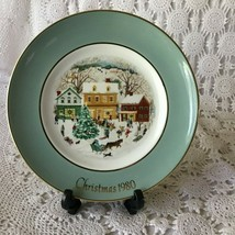 Wedgewood Avon Christmas On The Farm First Edition Porcelain Plate 1973 - $11.63