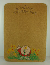 Vintage Ziggy Tom Wilson Bulletin Cork Board You Can Plant Your Notes He... - $29.69