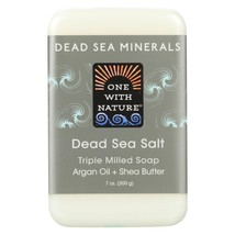 One With Nature Dead Sea Mineral Dead Sea Salt Soap - 7 oz - $6.70