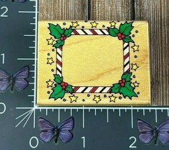 Hero Arts Candy Cane Stamp Frame Rubber Stamp 1995 D105 Christmas Holida... - $4.46