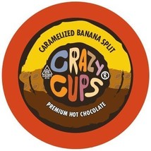 Crazy Cups Caramelized Banana Split Hot Chocolate 22 to 88 K cups Pick A... - $22.99+