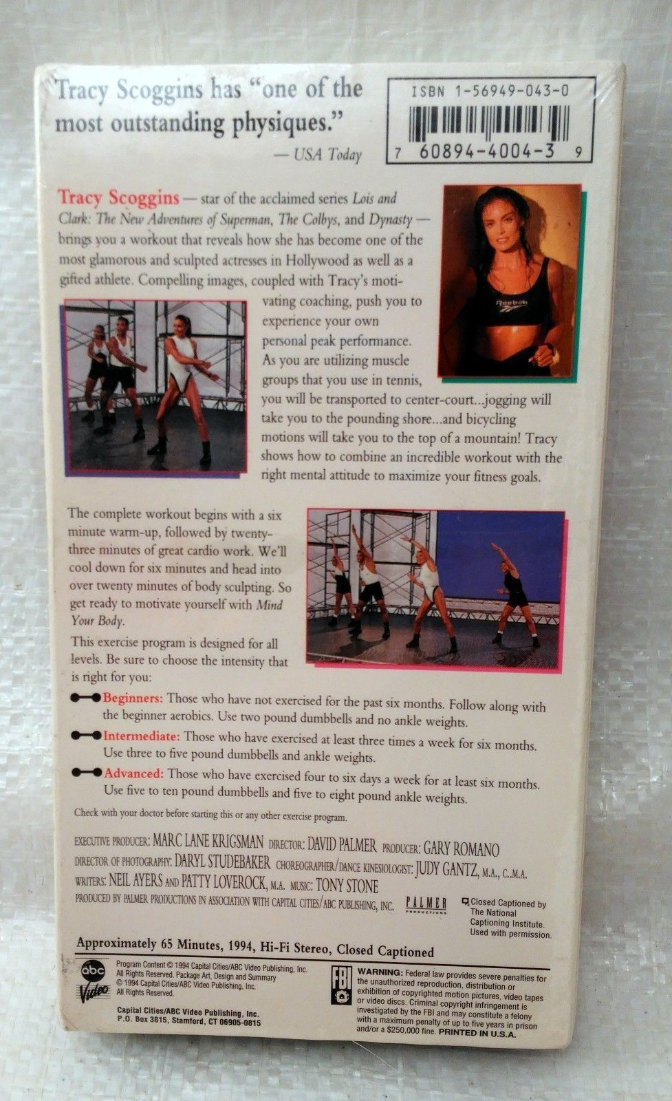 Tracy Scoggins - Mind Your Body (VHS, 1994)