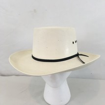 Western Express Appaloosa sz 7 White Hard Shell Banded Cowboy Hat - $28.71