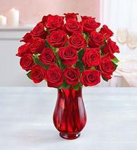 1-800-Flowers Two Dozen Red Roses with Red Vase - $64.99+