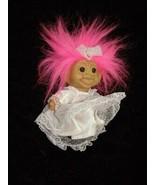 Troll Doll Pink Hair Bride In Wedding Dress Russ - $23.99