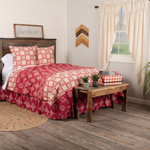 Paloma Crimson King Queen Boho Patchwork Quilts Shams Skirts Vhc Brands  - $26.00+