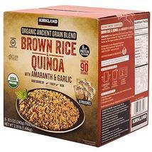 Kirkland Signature Organic Ancient Grain Blend: Brown Rice & Quinoa w/ A... - $25.61