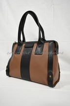 NWT! Fossil Leather Gwen Satchel Handbag in Brown and Black MSRP $248 - $169.00
