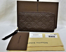 Louis Vuitton M60387 Long Zippy Monogram Wallet 100% Calf Leather Made in France - $749.95