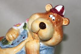 Silly Goofy Bear Ceramic Coin Bank - $14.95