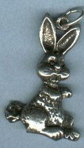 PEWTER BUNNY RABBIT PENDANT - $6.00