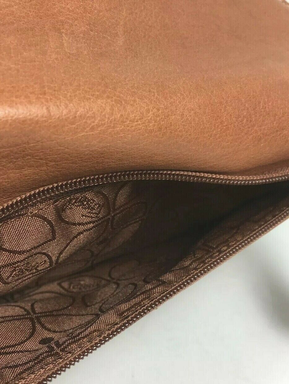Fossil Brown Leather Clutch Wallet image 4