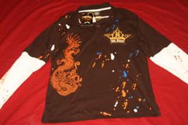 Old Skool BK4041 Urban Rogale Polo Pullover Shirt Sz XL Retails 35.00 NWT - $18.59