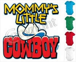 MOMMY`S LITTLE COWBOY baby infant bodysuit snapsuit One piece creeper KP245 - $12.99