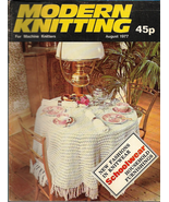 Modern Knitting for Machine Knitters Aug 1977 Magazine UK Tablecloth & M... - $9.99