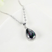 Genuine Fire Rainbow Mystic Topaz Solid 925 Sterling Silver Pendant - $9.79