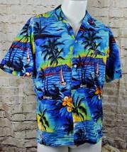 Hawaiian Short Sleeve Button Shirt Size Large Royal Creations - $12.86