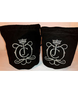 JC Black Multi-Color Embroidered Logo Pair Juicy Couture Suede Leather P... - $23.70