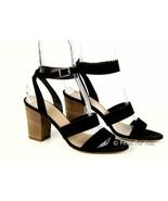 J Crew Women's Aubrey Midheel Sandals Block Heel Shoes Suede Pumps 10 A0556 - $45.99