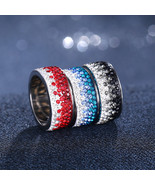 17KM® Female Stainless Steel Ring For Women New Fashion Wedding Jewelry ... - $5.56