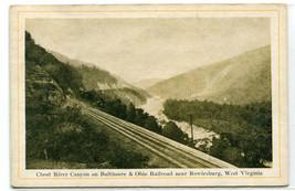 B&O Baltimore Ohio Railroad Track Cheat River Canyon Rowlesburg WV postcard - $6.44