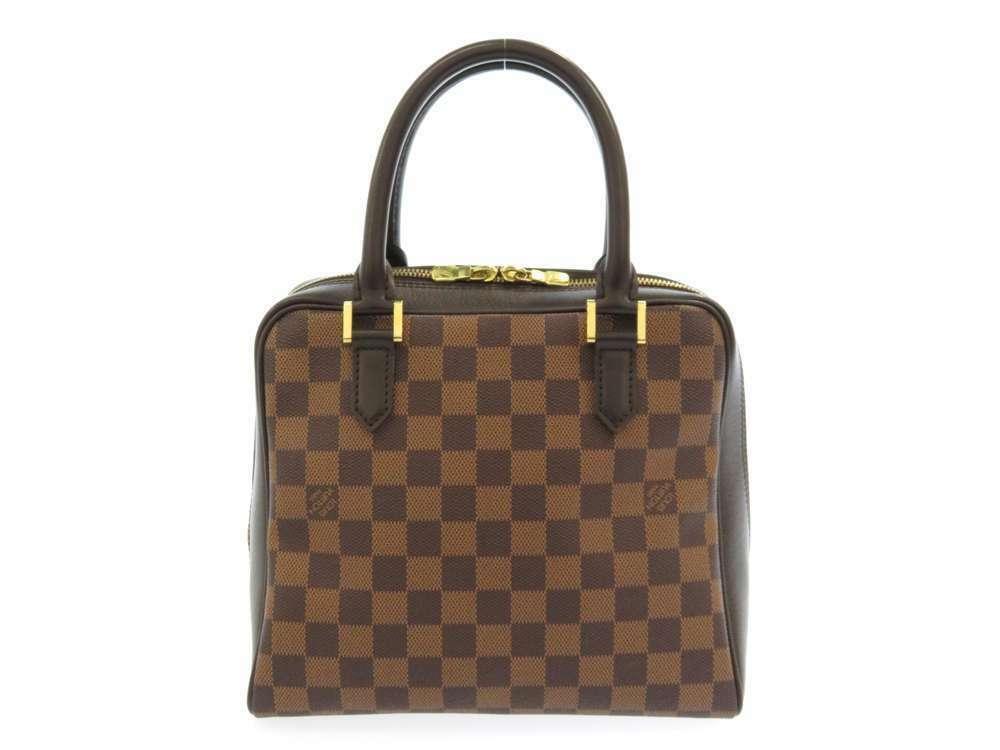 LOUIS VUITTON Brera Damier Canvas Ebene Handbag N51150 France Authentic image 3