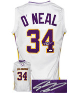 Shaquille O'Neal signed Los Angeles Custom Stitched White Pro Basketball... - $182.95