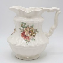 "Vintage 11"" VB Athena Roses California Pottery Pitcher - $19.79"