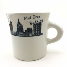 Homer Laughlin NYC Skyline Diner Mug Twin Towers Flat Iron Woolworth Bui... - $17.63