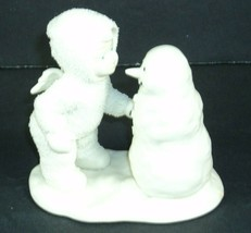 Snowbabies by Department 56 Figurine Snowman Why Dont You Talk to Me #68... - $12.86