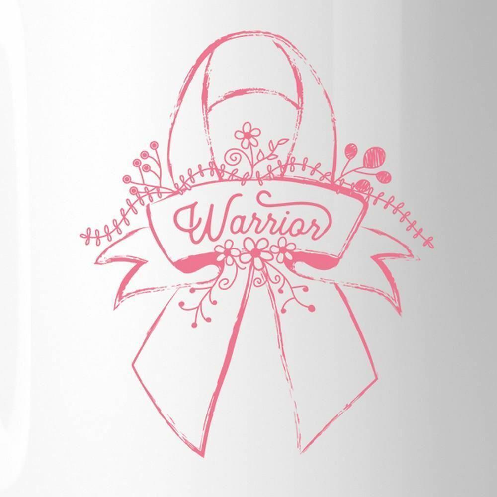 Warrior Breast Cancer Awareness White Mug