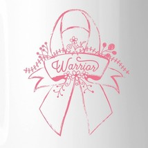 Warrior Breast Cancer Awareness White Mug image 2