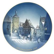 Christmas Plate Rosenthal Weihnachten George Kuspert Rothenburg 1969 - $48.26