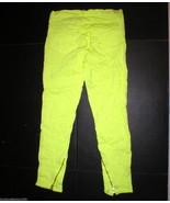 New Womens J Brand Designer Christopher Kane Crinkle Neon Yellow 28 Jean... - $169.20