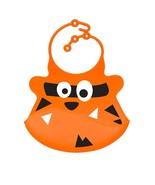Orange Tiger Silicone Baby Bib - Ulubulu - CPSIA Compliant - Fun Toddler... - $17.99