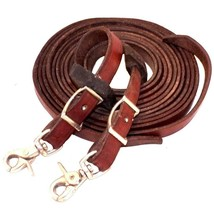 Conway Buckle Leather Western Split Training Reins 3/4 inch Wide x 8 fee... - $47.99