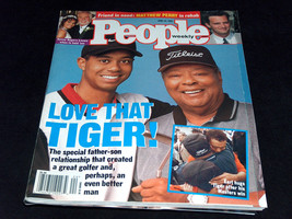 1997 People Magazine Tiger Woods Father Dad Earl Hug Son After Masters W... - $9.18