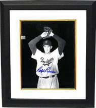 Ralph Branca signed Brooklyn Dodgers 8x10 B&W Photo Custom Framed (wind up) - $69.00