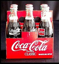 Vintage Coca Cola Classic 6 Pack Collection AB 10 image 2
