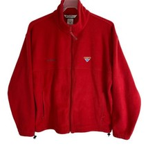 Columbia Mens Jacket Size Large Red Full Zip Fleece Jacket Mens Long Sle... - $24.97