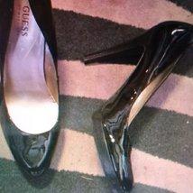 Guess So 9 women heels shoes black - $33.00