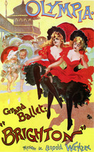 Vintage POSTER.Stylish Graphics.Olympia grand Ballet Brighton Decor.1874 - $10.89+
