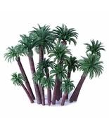 Ymeibe 20 PCS Model Palm Trees Mini Layout Rainforest Plastic Train Coco... - $13.11