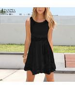 Dress stylish Lace V-Neck Strap Short mini - $27.95