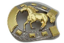 Hombre Western Cowboys Cinturón Hebilla Metal Plateado Caballo Rodeo Detalle image 3