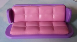 "Dollhouse SOFA/Couch/Futon Fisher Price Mattel Polly Pocket 6"" Wide 2 1/... - $6.90"