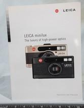 Leica Minilux Camera Brochure/ Catalog Guide 1997 g25 - $14.84