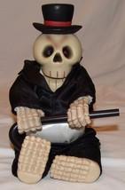 Halloween Decoration Skeleton Top Hat Cane Vtg Doesn't Work - £11.57 GBP