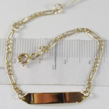 Bracelet Yellow Gold 750 18K, Ovals Alternating and Plate for Incision, ... - $239.67